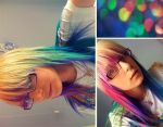 my new rainbow hair. by breaktheSTORM