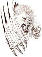 .lion tattoo design. by CheshireSmile