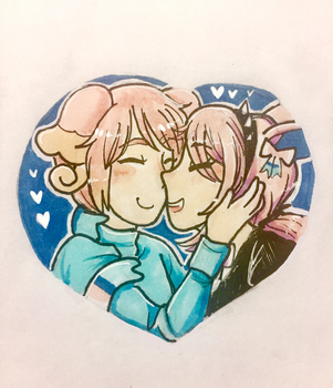 Pink Power Couple by Apple-Cinnamon-Roll