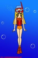 Lindsay (Total Drama): Scuba Diving by VoyagerHawk87