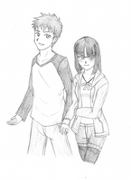 Fate Series - Shirou and Ayaka by KAIZA-C