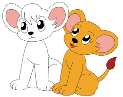 Ceasar and Snowene as cubs by ChickTristen94
