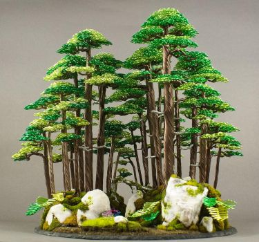 New Wire Bonsai Forest made by Steve Bowen by BowenBonsai