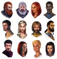 Game of thrones study faces by DiegoVila