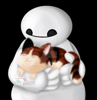 Baymax and Hairy Baby by Inuranchan