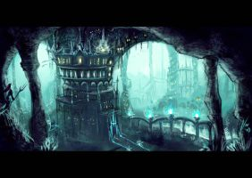 Underwater city by anez-erynlis