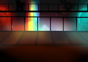 Rainbow factory background F2U by IceFoxe