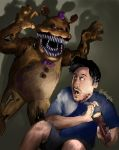 Markiplier and Fredbear (FNAF 4) by Shuploc