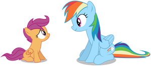 Another Rainbow Dash and Scootaloo by MasterRottweiler