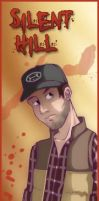 Silent Hill bookmarks- Travis by MidoriEyes