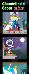 Changeling Scout And The Book Of Daring Do 07 by vavacung