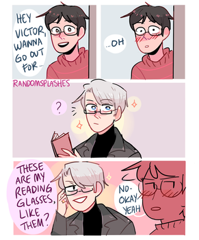 YOI: VICTOR WITH GLASSES by Randomsplashes