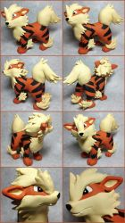 Arcanine Sculpture by LeiliaClay