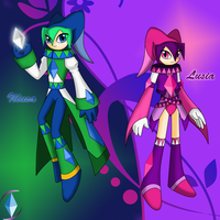 -NiGHTS OCs- Illusa and Lusia by CrystalViolet500