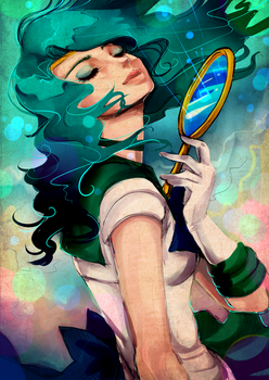 Neptune Mirror by KMCeci