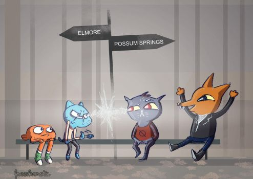 gumball vs mae borowski by FREEshprota