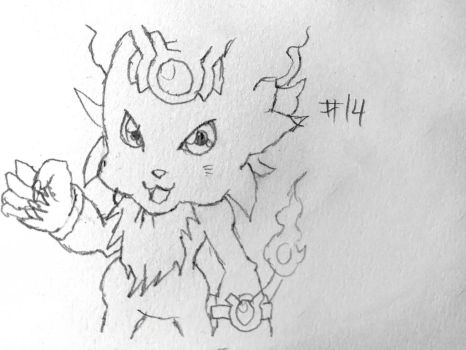 Digimon Sketch Challenge: Day #14 by Omnimon1996