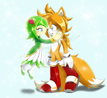TSR - The reunion of Tails and Cosmo~ by SilverAlchemist09