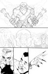 Wip - comic page by greenhickup