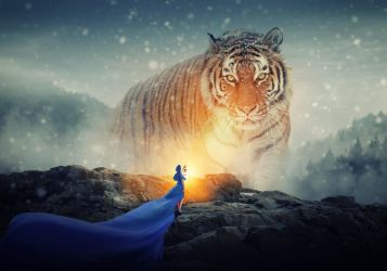Giant Cat Photoshop Manipulation by redchilliworx
