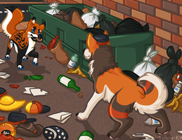 my dumpster. my alley. by Yellow-K9
