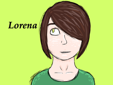 Lorena (without her glasses) by howlbymoon