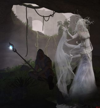 The Shaman and the Ghost by Hera-of-Stockholm