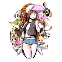 Pokemon Hilda and Friends
