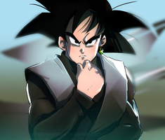 Dragonball Super: Black Goku by longlovevegeta
