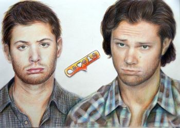 Sam and Dean Winchesters by Alena-Koshkar