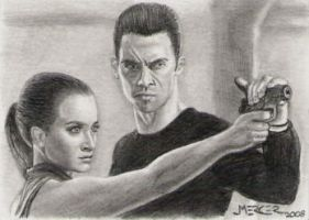 Pete and Claire sketch card by jenchuan