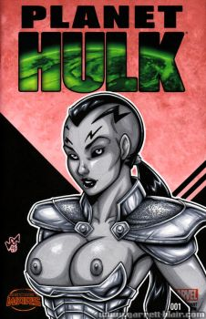 Naughty Caiera bust cover by gb2k
