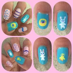 Easter 2018 Nail Art by MikariStar