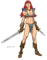 Red Sonja by Linsner by JoeSoul