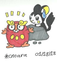 Darumaka and Emolga