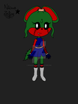 Nerea the rabbitcat - new design color by NicuaZafirethecat