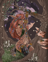 Fae in the Woods Redux by Jackwrench