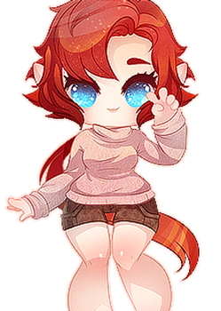 Anafrey - Blinking Cutie Commission by clover-teapot