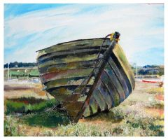 Old Boat Acrylic by mr-macd