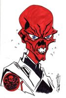 RED SKULL by jacksony22