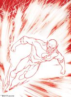 Flash Red Line by artist Tom Kelly by TomKellyART