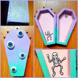 Pastel Goth Coffin Box #2 by CrimsonsCreations
