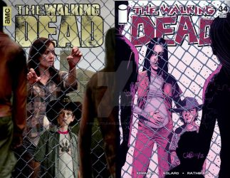 The Walking Dead #34 comic book cover photoshopped by godslittlejoke