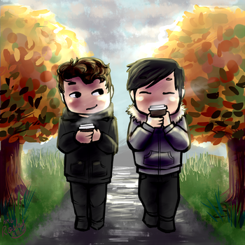 Dan And Phil's Seasonal Starbucks by MartyOfLungbarrow
