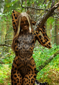 leopard woman by eict