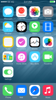iOS8 Updated Design by hamzasaleem