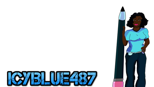 Icyblue487 Youtube Thumbnail by DarkSirenftw