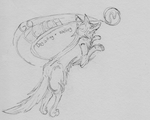 'Go Fetch' Dog Sitting + Walking Logo 'sketch' by CrimsonVampiress