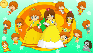 Lots of Daisy's by MarioSonicfans2000
