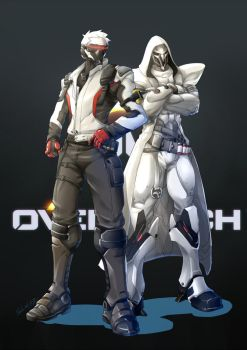 [overwatch]76 and Reaper (the white coler skin) by Mr-SO